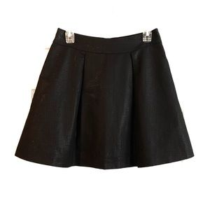 Banana Republic Metallic Sheen Skater Style Skirt